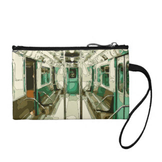 Subway Car Within the Metal Coin Purse