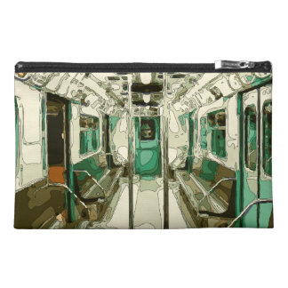 Subway Car Within the Metal Travel Accessory Bag