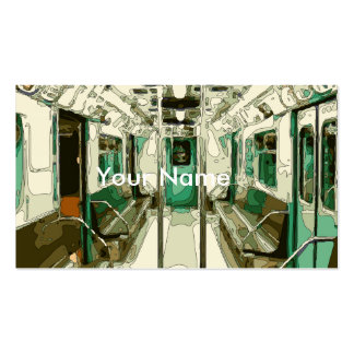 Subway Car Within the Metal Business Card