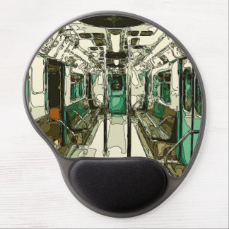 Subway Car Within the Metal Gel Mouse Pad