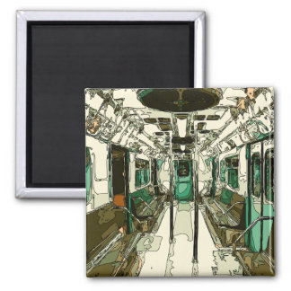 Subway Car Within the Metal Magnet