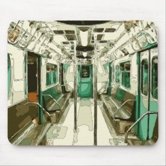 Subway Car Within the Metal Mouse Pad
