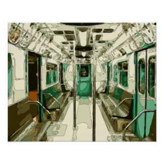 Subway Car Within the Metal Poster