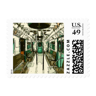 Subway Car Within the Metal Stamp