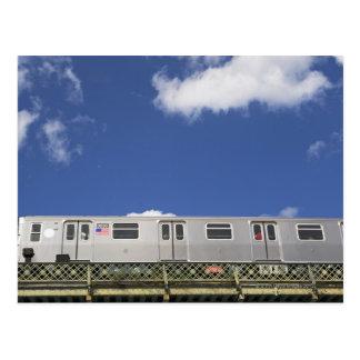 Subway Cars Postcard