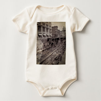 Subway Excavation Seventh Ave and 24-25th NYC Baby Bodysuit
