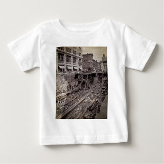 Subway Excavation Seventh Ave and 24-25th NYC Baby T-Shirt