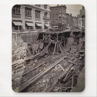 Subway Excavation Seventh Ave and 24-25th NYC Mouse Pad