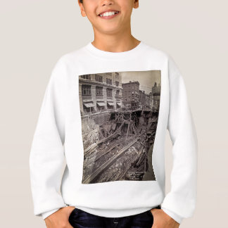 Subway Excavation Seventh Ave and 24-25th NYC Sweatshirt