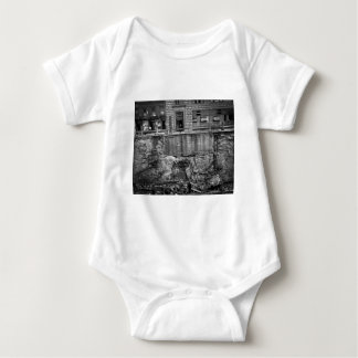 Subway Excavation Seventh Ave and 24-25th Streets Baby Bodysuit