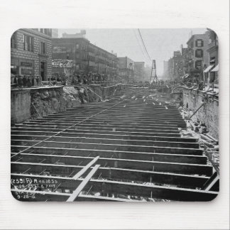 Subway Excavation Seventh Ave New York City 1913 Mouse Pad