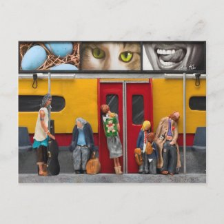 Subway / Lonely Travelers Postcard postcard