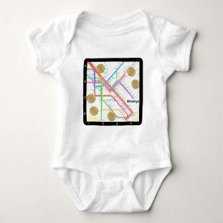 Subway Map Baby Bodysuit