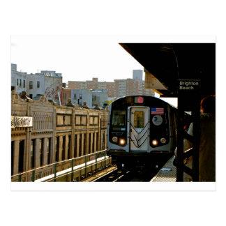 Subway Platform in Brighten Beach- Photography Postcard