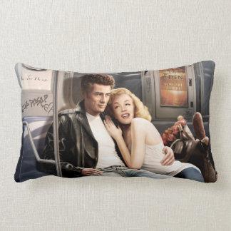 Subway Riders Pillow
