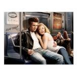 Subway Riders Postcard