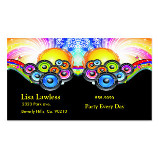Subwoofers Pumping Music In Rainbow Colors Business Card Templates