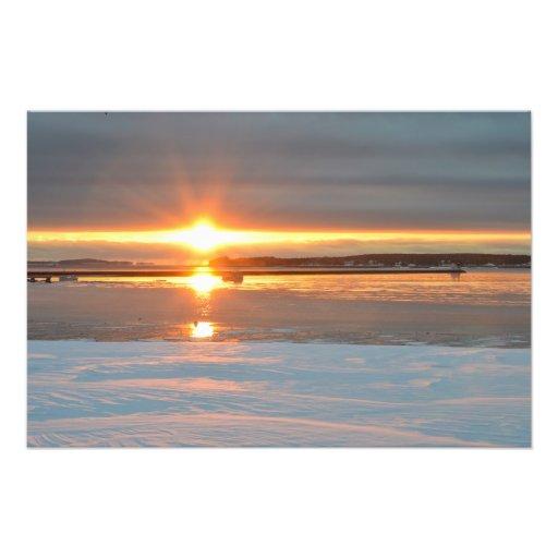 Subzero Sunrise over Rockland Maine Harbor Photo