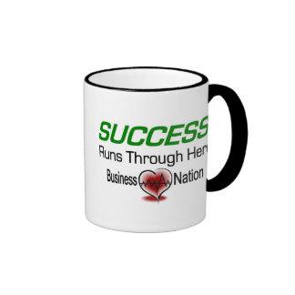 Succeess Runs Through Here Ringer Mug