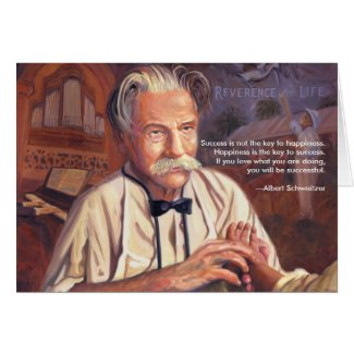 Success: Albert Schweitzer Quote Card