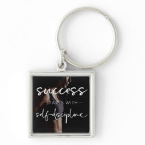 Success And Discipline - Women's Gym Motivational Keychain