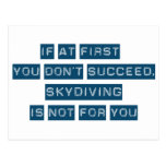 Success at Skydiving Postcard