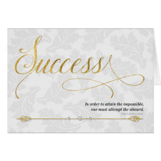 Success Business Expression in Gold and Silver Card