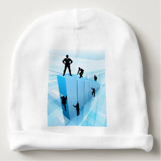Success Business People Silhouettes Concept Baby Beanie