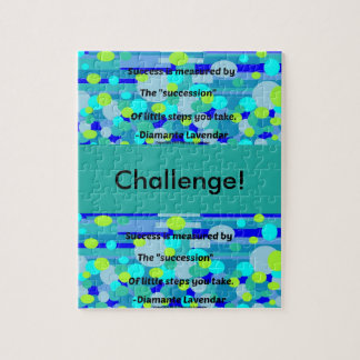 Success by Diamante Lavendar Jigsaw Puzzle
