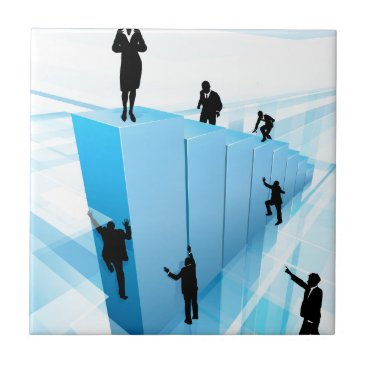 Success Concept Business People Silhouettes Ceramic Tile
