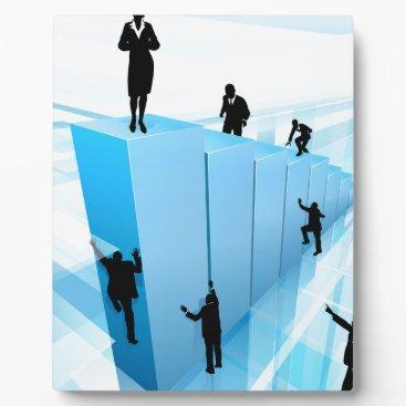 Success Concept Business People Silhouettes Plaque