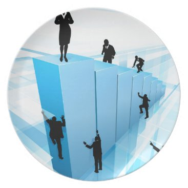 Success Concept Business People Silhouettes Plate