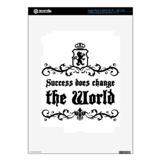 Success Does Change The World Medieval quote Skins For iPad 3