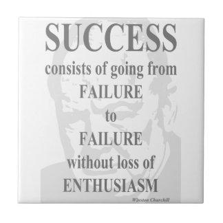 Success & Enthusiasm Tile