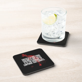 Success, Failure and Courage. Workout Motivational Drink Coaster