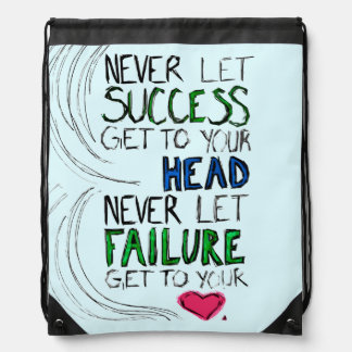 Success & Failure Drawstring Backpack