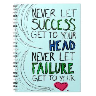 Success & Failure Spiral Note Book