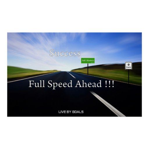 Success Full Speed Ahead Poster