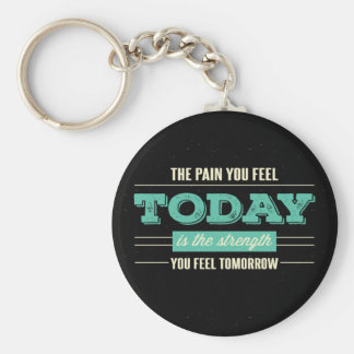 Success, Goals Attitude Motivational Quote Black Keychain