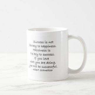 Success & Happiness Quote Coffee Mug Cup