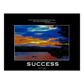 SUCCESS in FRIENDSHIP Inspirational Nature Poster