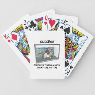 Success Involves Taking A Break Duke Snorkeling Bicycle Playing Cards
