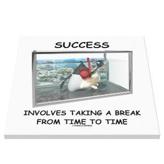 Success Involves Taking A Break Duke Snorkeling Canvas Print