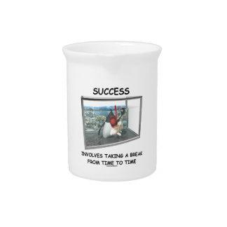 Success Involves Taking A Break Duke Snorkeling Drink Pitchers