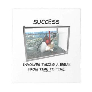 Success Involves Taking A Break Duke Snorkeling Notepad