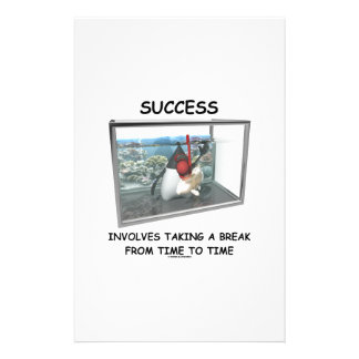 Success Involves Taking A Break Duke Snorkeling Stationery