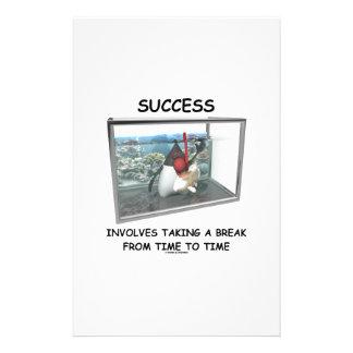 Success Involves Taking A Break Duke Snorkeling Stationery