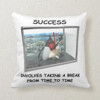Success Involves Taking A Break Duke Snorkeling Throw Pillow