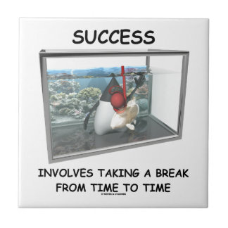 Success Involves Taking A Break Duke Snorkeling Tile