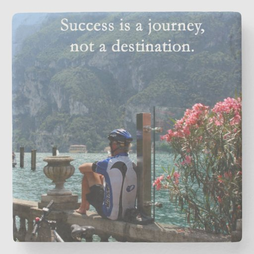Success Is a Journey Stone Beverage Coaster